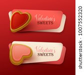set of valentine s day banners... | Shutterstock .eps vector #1007552320