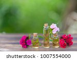 essence of flowers on a table... | Shutterstock . vector #1007554000