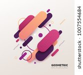abstract geometric background.... | Shutterstock .eps vector #1007554684