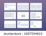 vector set of windows with...
