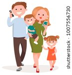 family with children. father ... | Shutterstock .eps vector #1007556730