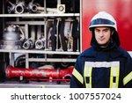 firefighter  fireman. emergency ... | Shutterstock . vector #1007557024
