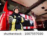 firefighter  fireman. emergency ... | Shutterstock . vector #1007557030