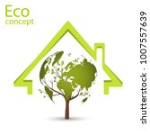 ecology concept  wood  in the... | Shutterstock .eps vector #1007557639