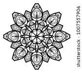 flower mandala. vintage... | Shutterstock .eps vector #1007557906