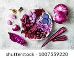 purple buddha bowl with spiral... | Shutterstock . vector #1007559220