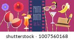 colorful photo booth props icon ... | Shutterstock .eps vector #1007560168