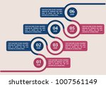 infographic template in six... | Shutterstock .eps vector #1007561149
