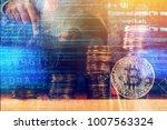 cryptojacking concept  computer ... | Shutterstock . vector #1007563324
