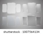 glass plates are installed.... | Shutterstock .eps vector #1007564134