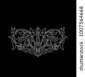 premium  vintage baroque frame... | Shutterstock .eps vector #1007564668