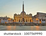 view of saint peters square in... | Shutterstock . vector #1007569990