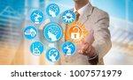 unrecognizable manager... | Shutterstock . vector #1007571979