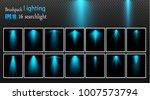 vector light sources  concert... | Shutterstock .eps vector #1007573794