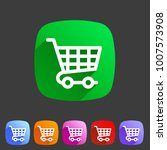 shopping cart icon flat web... | Shutterstock .eps vector #1007573908