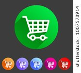 shopping cart icon flat web... | Shutterstock .eps vector #1007573914