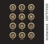 12 golden with silverring... | Shutterstock .eps vector #1007574103