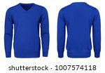 blank template mens blue... | Shutterstock . vector #1007574118