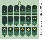 military ranks symbol  epaulet... | Shutterstock .eps vector #1007574256