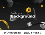 color vector background with... | Shutterstock .eps vector #1007574553