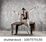 two person  dancers  woman and... | Shutterstock . vector #1007575150