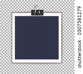 photo frame with pin on isolate ... | Shutterstock .eps vector #1007581279