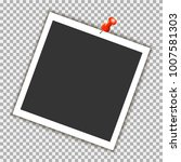 photo frame with red pin on... | Shutterstock .eps vector #1007581303