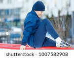 teenager goes in for sport on... | Shutterstock . vector #1007582908