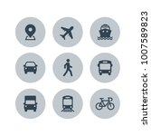 transport icons. airplane ... | Shutterstock .eps vector #1007589823