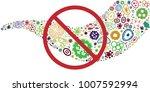 vector illustration of bacteria ... | Shutterstock .eps vector #1007592994