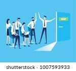 vector business graph  business ... | Shutterstock .eps vector #1007593933
