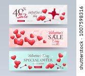 set of elegant template of sale ... | Shutterstock .eps vector #1007598316