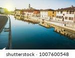 naviglio grande canal waterway... | Shutterstock . vector #1007600548