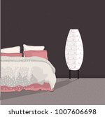 bedroom vector illustration.... | Shutterstock .eps vector #1007606698