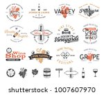 wine logos  labels set. winery... | Shutterstock .eps vector #1007607970