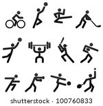 sports icons | Shutterstock .eps vector #100760833
