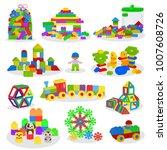 kids building blocks vector... | Shutterstock .eps vector #1007608726