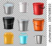 bucket vector bucketful and... | Shutterstock .eps vector #1007608810