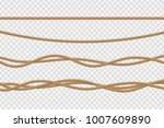 vector realistic isolated rope... | Shutterstock .eps vector #1007609890