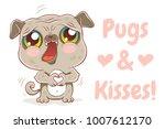 vector illustration of a cute... | Shutterstock .eps vector #1007612170