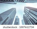 urban geometry  looking up to... | Shutterstock . vector #1007612734