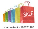 colorful shopping bags with... | Shutterstock . vector #100761400
