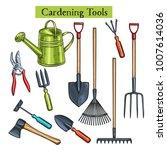 gardening tools vector... | Shutterstock .eps vector #1007614036