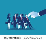 domino effect. manager pushes... | Shutterstock .eps vector #1007617324