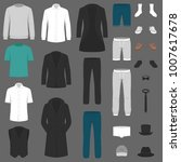 set of man fashion. clothes... | Shutterstock .eps vector #1007617678