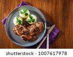 delicious chicken marsala... | Shutterstock . vector #1007617978