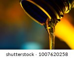 liquid stream of motor oil... | Shutterstock . vector #1007620258
