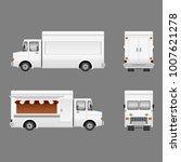 editable blank food truck... | Shutterstock .eps vector #1007621278