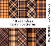 set of seamless tartan patterns | Shutterstock .eps vector #1007622106
