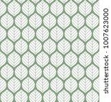 geometric leaves vector... | Shutterstock .eps vector #1007623000